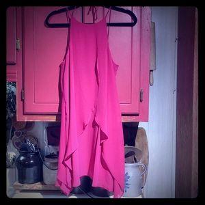 BCBGeneration Sangria Ruffle Mini Dress